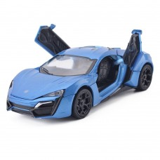 1:32 Scale Lykan Hypersport Blue Die-cast Car Model Collection light &Sound (Blue)
