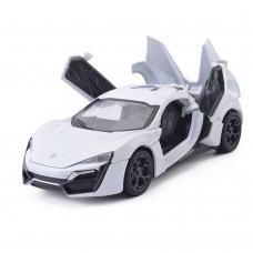 1:32 Scale Lykan Hypersport White Die-cast Car Model Collection light &Sound