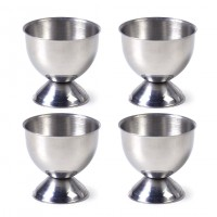 Stainless Steel Soft Boiled Egg Cups Holder Stand Storage (4 Packs)