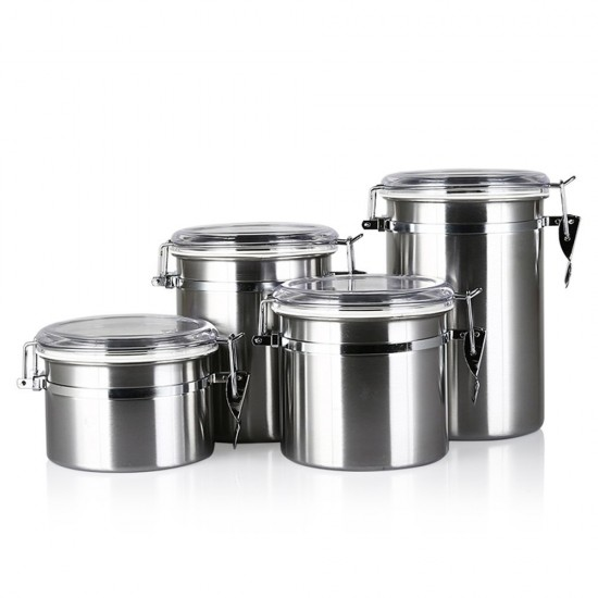 MyLifeUNIT: Airtight Stainless Steel Canister Sets With