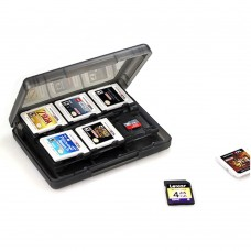 Nintendo 3DS Game Card Case 28 in 1, Black