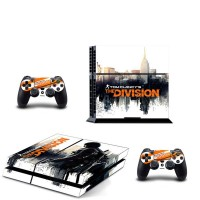 PS4 Console Skin The Division Decal Sticker + 2 Controller Skins Set