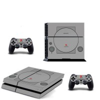 PS4 Console Skin PS Anniversary PS1 Style Decal Sticker + 2 Controller Skins Set
