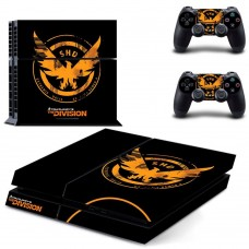 The Division Sticker PS4 Division Logo Console Skin + 2 Controller Skins Set