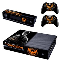 Xbox One Console Skin The Division Decal Sticker with Kinect 2.0 Controller Skins Set (The Division LOGO)