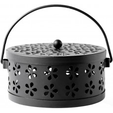 Mosquito Coil Holder, Retro Portable Mosquito Incense Burner for Home and Camping (Black)