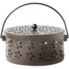 Mosquito Coil Holder, Retro Portable Mosquito Incense Burner for Home and Camping (Bronze)