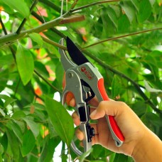 Ratchet Type Pruning Shears for Gardening