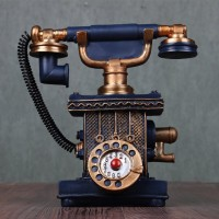 Mylifeunit Vintage Telephone Decoration Retro Phone Craft For Home