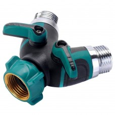 2 Way Y Shunt Garden Hose Connector, Hose Splitter, Switch On / Off Valve Pipe, Perfect for Home Garden Irrigation, Yard Irrigation