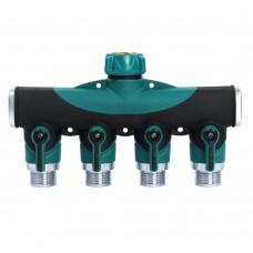 3/4 Inch 4 way Hose Splitter, Garden Hose Splitter, Hose Valve Splitter, US Standard Thread