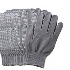 6 Pairs Pack Gardening Gloves for Women & Men, Protective Second Skin Working Gloves - Medium (Grey)