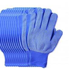 6 Pairs Pack Gardening Gloves for Women & Men, Protective Second Skin Working Gloves - Medium (Blue)