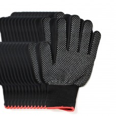 6 Pairs Pack Gardening Gloves for Women & Men, Protective Second Skin Working Gloves - Medium (Black)