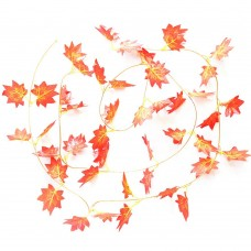 10 Inch x 90 Inch Artificial Fall Maple Leaf Vines Artificial Plants Ivy Hanging Garland