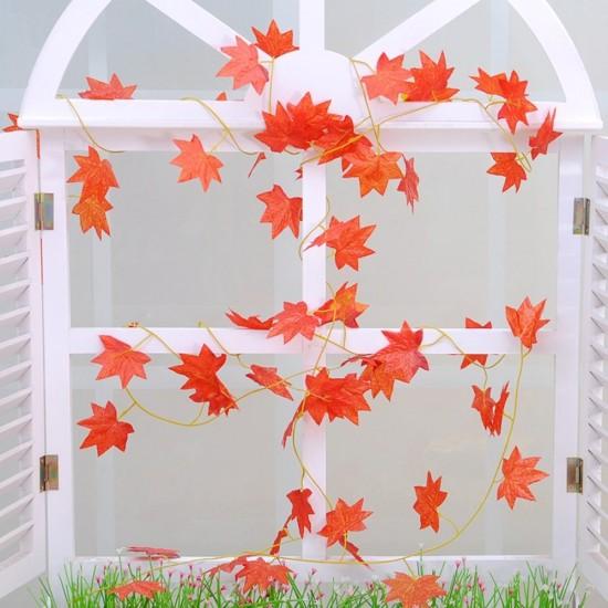 mylifeunit: 10 inch x 90 inch artificial fall maple leaf vines