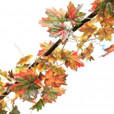 Artificial Fall Maple Leaf Garland Rattan Vine Wedding Garden Decor Decoration