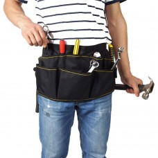 Electrician Tool Belt, Electrician Tool Pouch Belt with Pockets, 12 Compartments
