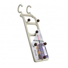 Rotatable Organizer Hook, Multi-Purpose Closet Hanger, Chrome Finish