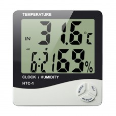 LCD Digital Temperature Humidity Meter Hygrometer Clock and Thermometer