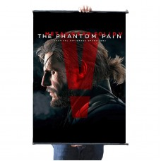 "Metal Gear Solid V Phantom Pain Big Boss Fabric Wall Scroll Poster, 24"" x 36"" (60cm x 90cm)"