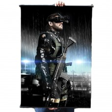 "Metal Gear Solid V Ground Zeroes Big Boss Fabric Wall Scroll Poster, 24"" x 36"" (60cm x 90cm)"