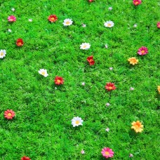 Encryption Artificial Turf Grass with Flower, 23.6-Inch by 15.7-Inch