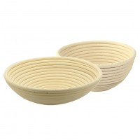 Round Proofing Basket, Handmade Bread Proofing Bowl, Set of Two (8.6 inches and 7 inches)