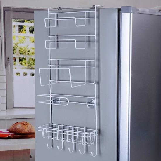 Mylifeunit refrigerator side storage rack for kitchen storage wrap refrigerator side storage rack for kitchen storage wrap rack organizer workwithnaturefo