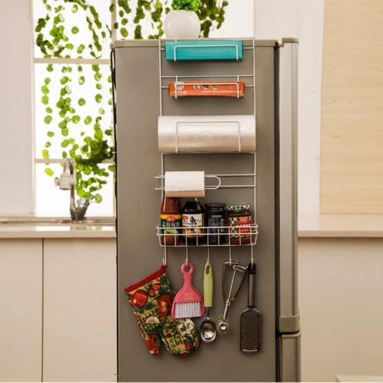 Refrigerator Side Storage Rack For Kitchen Storage Wrap Rack Organizer. U2039 U203a