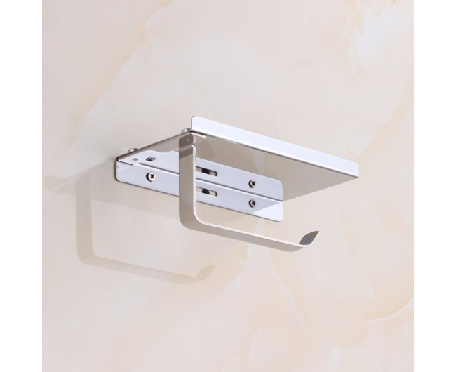 Wall mount smartphone hanging rack organizer stainless steel toilet paper holder with mobile - Wall mount headphone holder ...