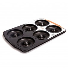 Carbon Steel 6 Cavity Donut Pan, Non Stick Donut Pan Large