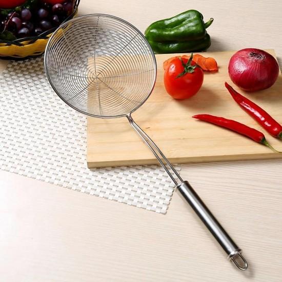 6-Inch FSK92009 Livewell Asian Spider Stainless Steel Kitchen Strainer Skimmer