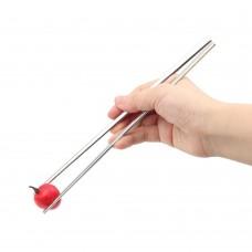 9 Inch Flat Chopsticks, Stainless Steel Korean Chopsticks (5 Pairs Set)