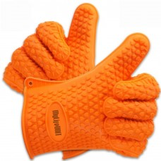 Grilling Gloves, Silicone Versatile Heat Resistant Oven Gloves, 1 Pair