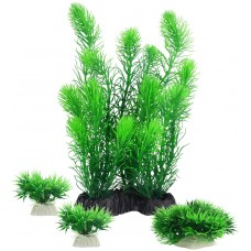 Aquariums Decorations Plants, Artificial Aquarium Plants for Fish Tank Decor, Pack of 4