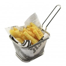 10/18 Stainless Steel Deep Fry Basket Small 5-inch
