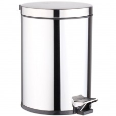 Small Trash Can for Stainless Steel, Round Step Can (3L / 0.8 Gallons)