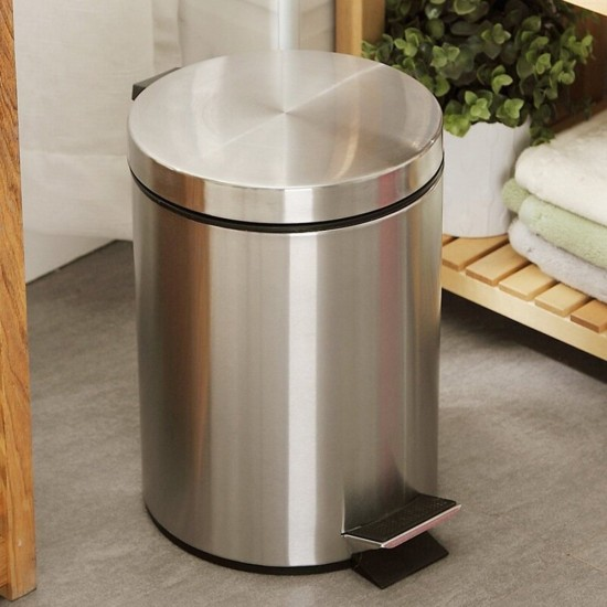 small trash can for stainless steel round step can 5l 13 gallons