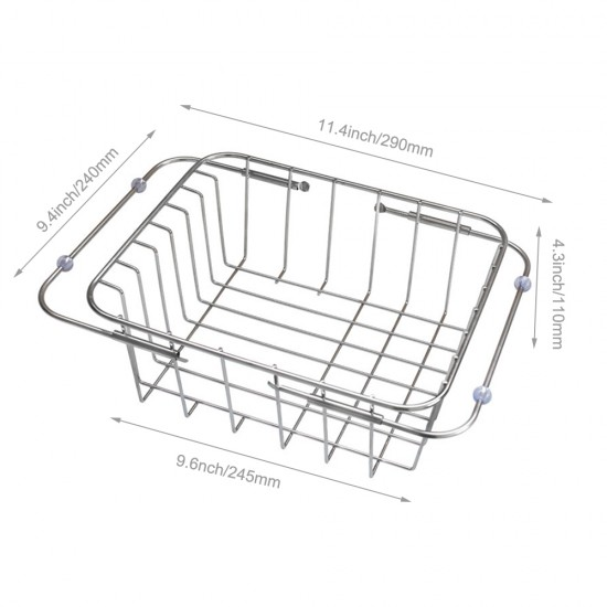 Mylifeunit Over The Sink Kitchen Dish Drainer Rack Stainless Steel