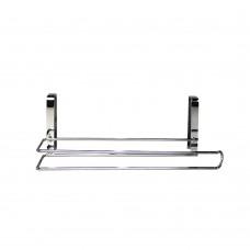 Kitchen Paper Holder Holder Over Cabinet Door, Stainless Steel Hanging Organizer Shelves
