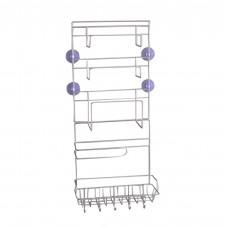 Refrigerator Side Storage Rack, Stainless Steel Kitchen Wrap Rack Organizer