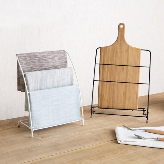 MyLifeUNIT: Free Standing Kitchen Towel Rack, Fingertip Bath Hand Towel Holder Stand (White
