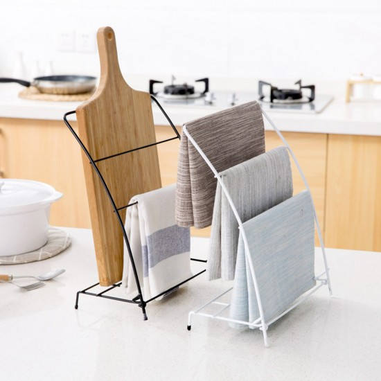 MyLifeUNIT: Free Standing Kitchen Towel Rack, Fingertip Bath Hand Towel  Holder Stand (White)