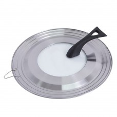 Stainless Steel Universal Pot Lid, Glass Standing Pot Lid Pot Cover Fits 9.5-11 Inch Pots Pans (9.5 / 10 / 11 inch)