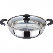 Shabu Shabu Hot Pot, Dual Sided Yin Yang Hot Pot with Stainless Steel Divider, 12 Inch
