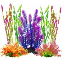 Artificial Aquariums Plants Plastic Fish Tank Plants for Aquarium Decorations, Pack of 7
