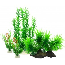 Fish Tank Plants, Artificial Aquatic Plants for Aquarium Decorations (Pack of 4)