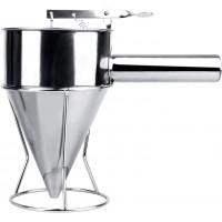 Stainless Steel Pancake Batter Dispenser, Funnel Dispenser with Stand for Takoyaki and Baking