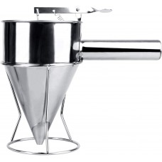 Stainless Steel Pancake Batter Dispenser, Funnel Dispenser with Stand for Takoyaki and Baking